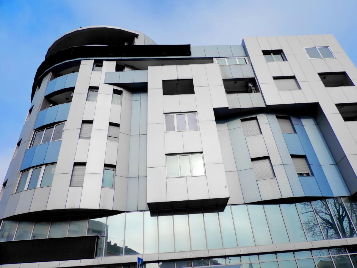 het platform, moderne, gebouw, kantoor, stad, stedelijke, Futuristische, venster