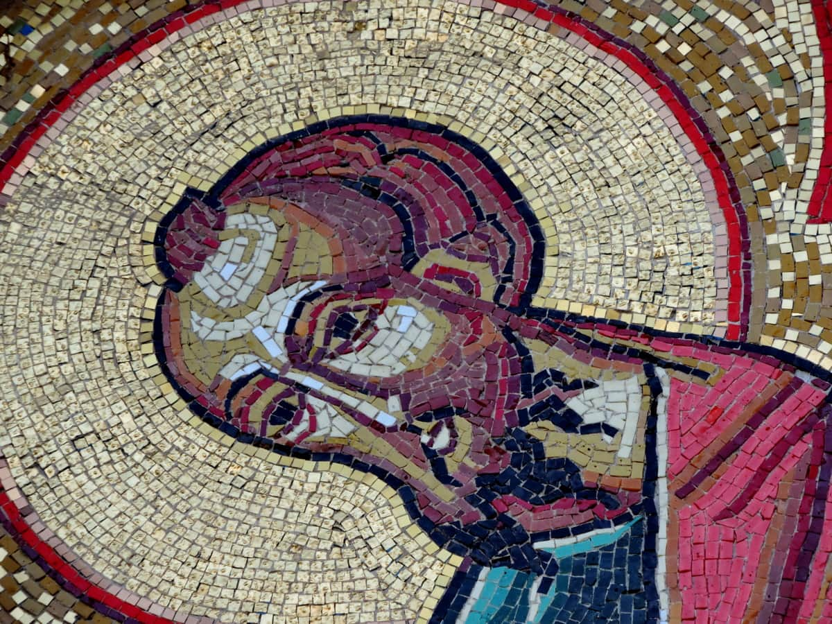 orthodox, saint, Serbia, art, mosaic, pattern, painting, culture