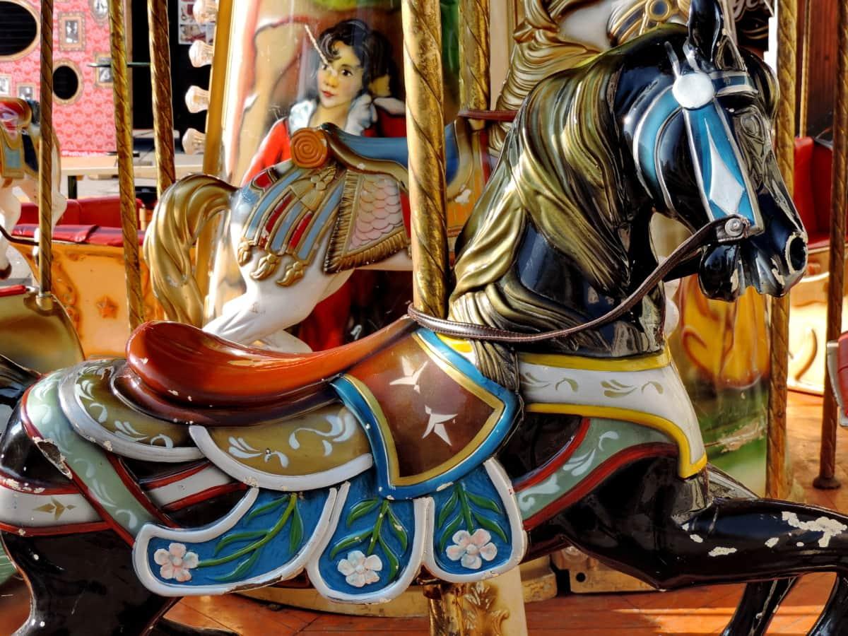 cirkus, mekanisme, karrusel, ride, karneval, underholdning, traditionelle, festivaali
