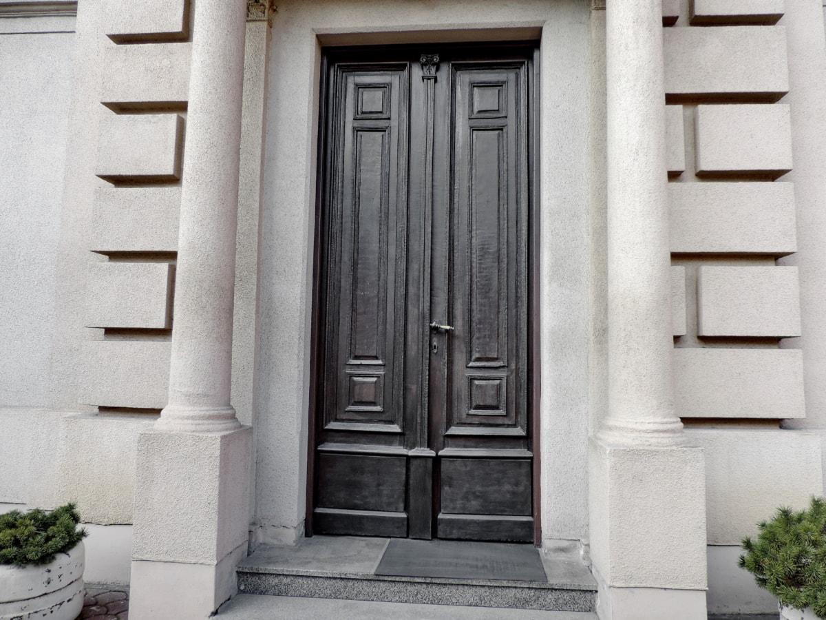 ajtó, építészet, ház, ajtó, bejárat, ablak, lépés, homlokzat