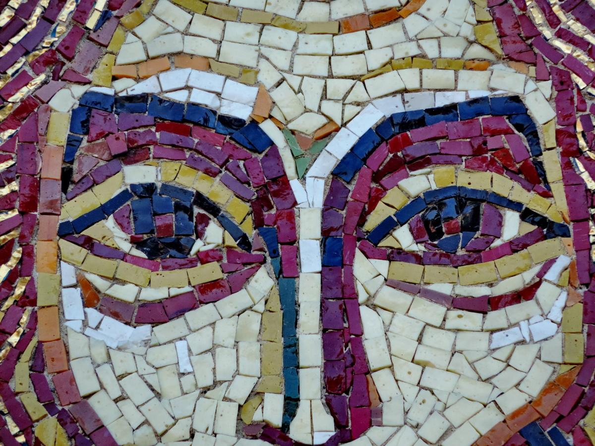 православна, изкуство, художествени, мозайка, стена, творчеството, живопис, модел