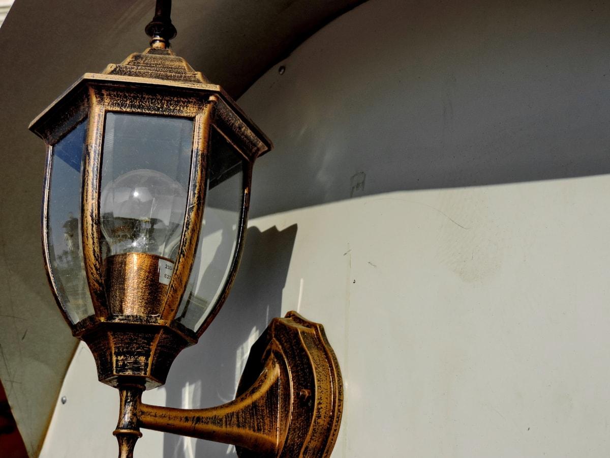 legering, håndlavede, pære, lanterne, lampe, enhed, lys, pære