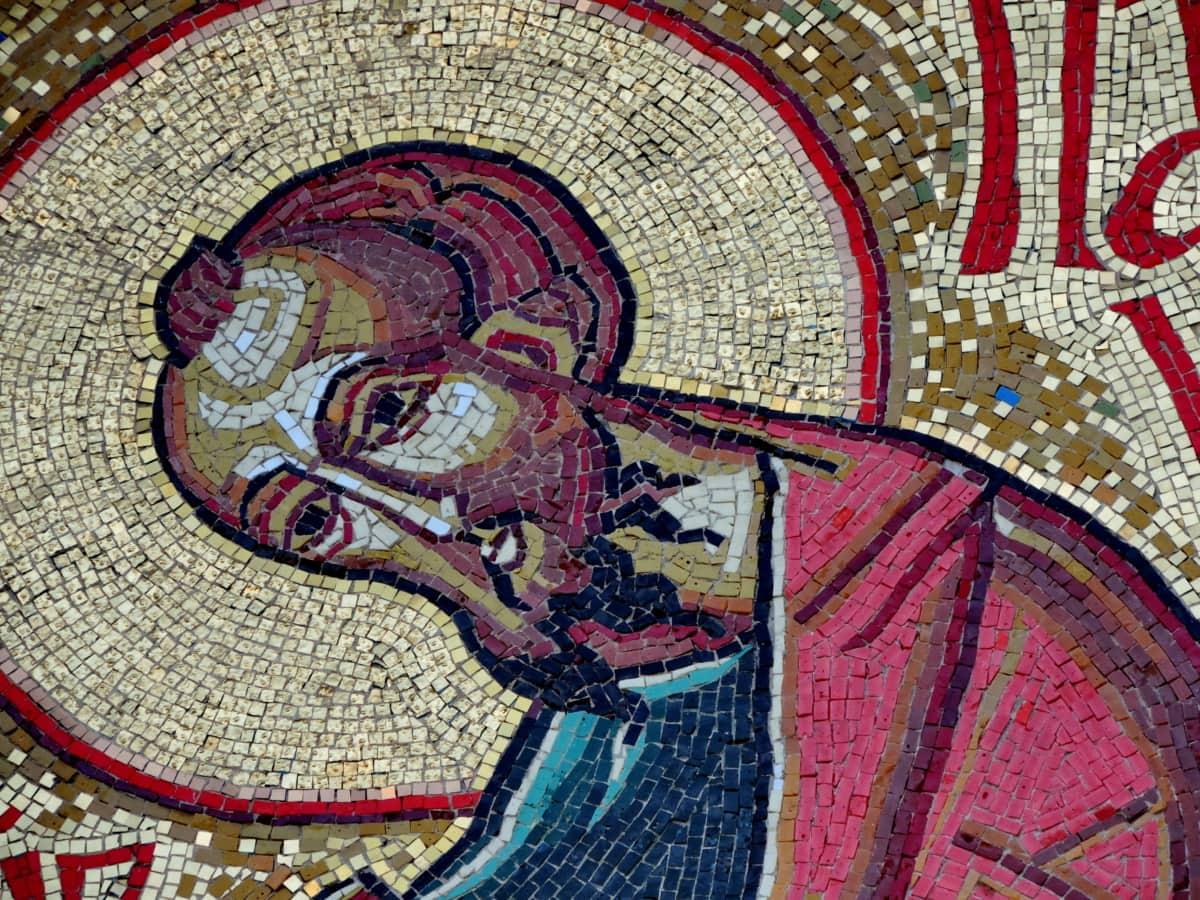 christian, christianity, saint, art, mosaic, religion, culture, wall