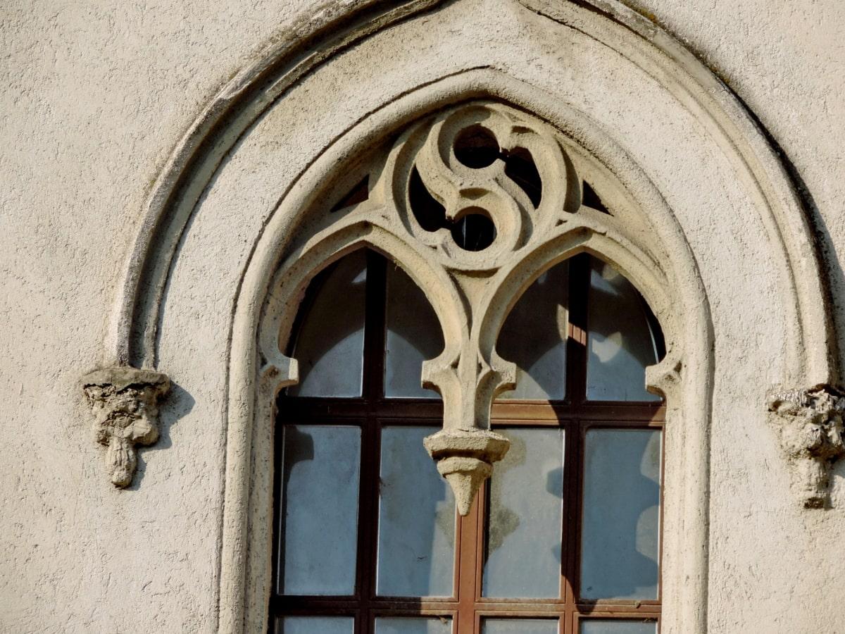 middelalderlige, arkitektur, kirke, gamle, ramme, bygning, vindue, Gotisk