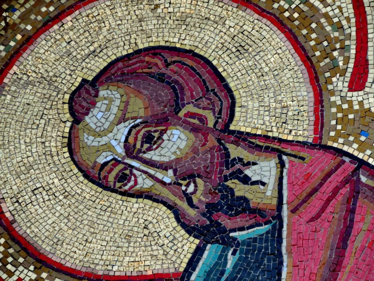 Ορθόδοξη, Αγίου, Πνευματικότητα, τέχνη, μωσαϊκό, θρησκεία, Ζωγραφική, μοτίβο