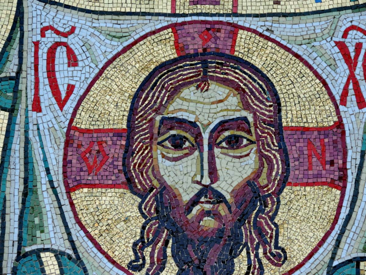 Christ, christianity, worship, art, culture, mosaic, tile, old