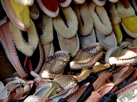 footwear, handmade, shoes, shop, traditional, decoration, many, upclose