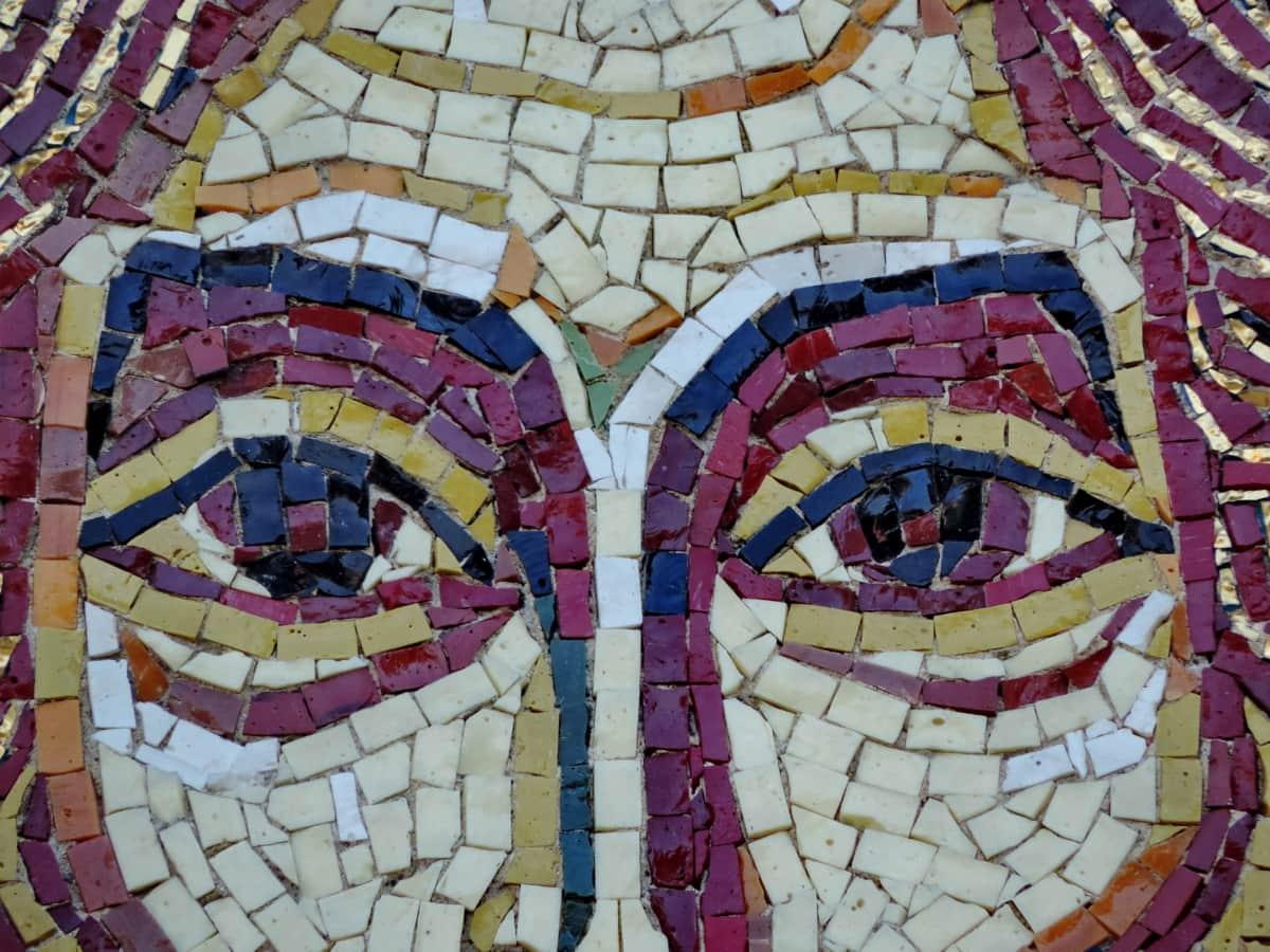 mosaic, wall, art, device, graffiti, artistic, design, pattern
