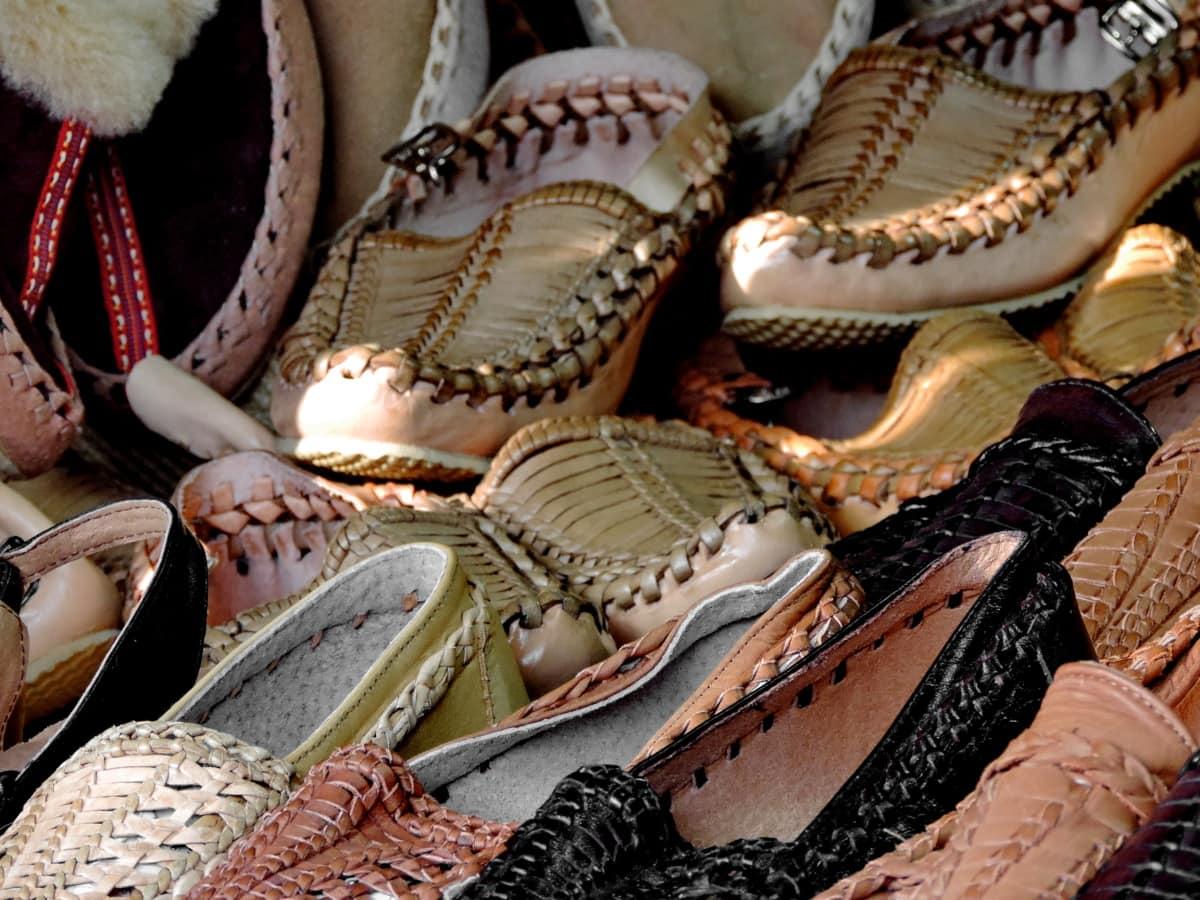 Παζάρι, Χειροποίητο, δέρμα, Παπούτσια, αγορά, Μόδα, διακόσμηση, παραδοσιακό