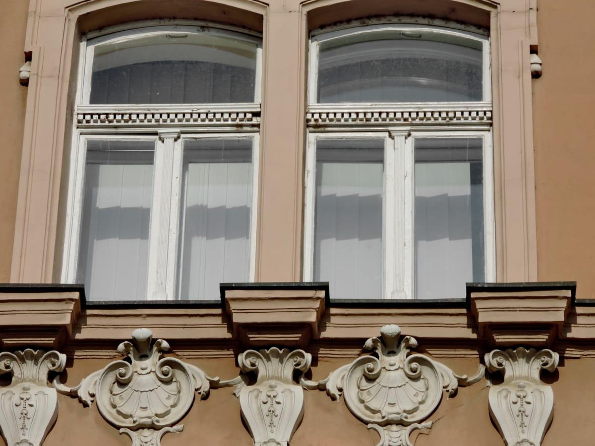 arquitectura, fachada, balcón, construcción, ventana, Casa, Ciudad, decoración