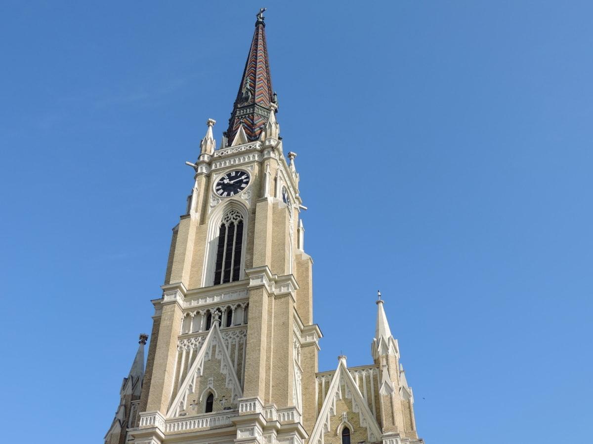 architektonický styl, křesťanství, náboženství, architektura, Katedrála, budova, kostel, věž