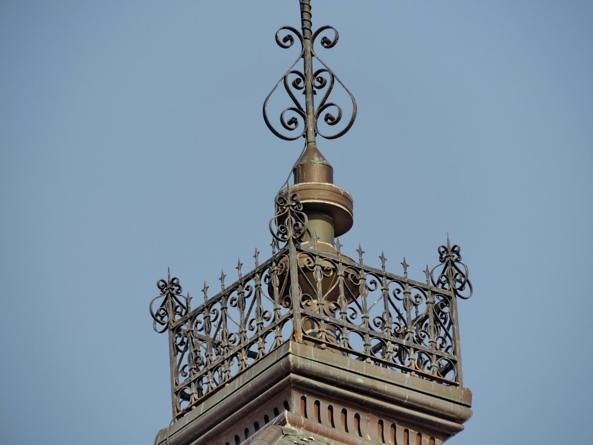 arabeszk, öntöttvas, Dísz, építészet, torony, szabadban, épület, nyári időszámítás