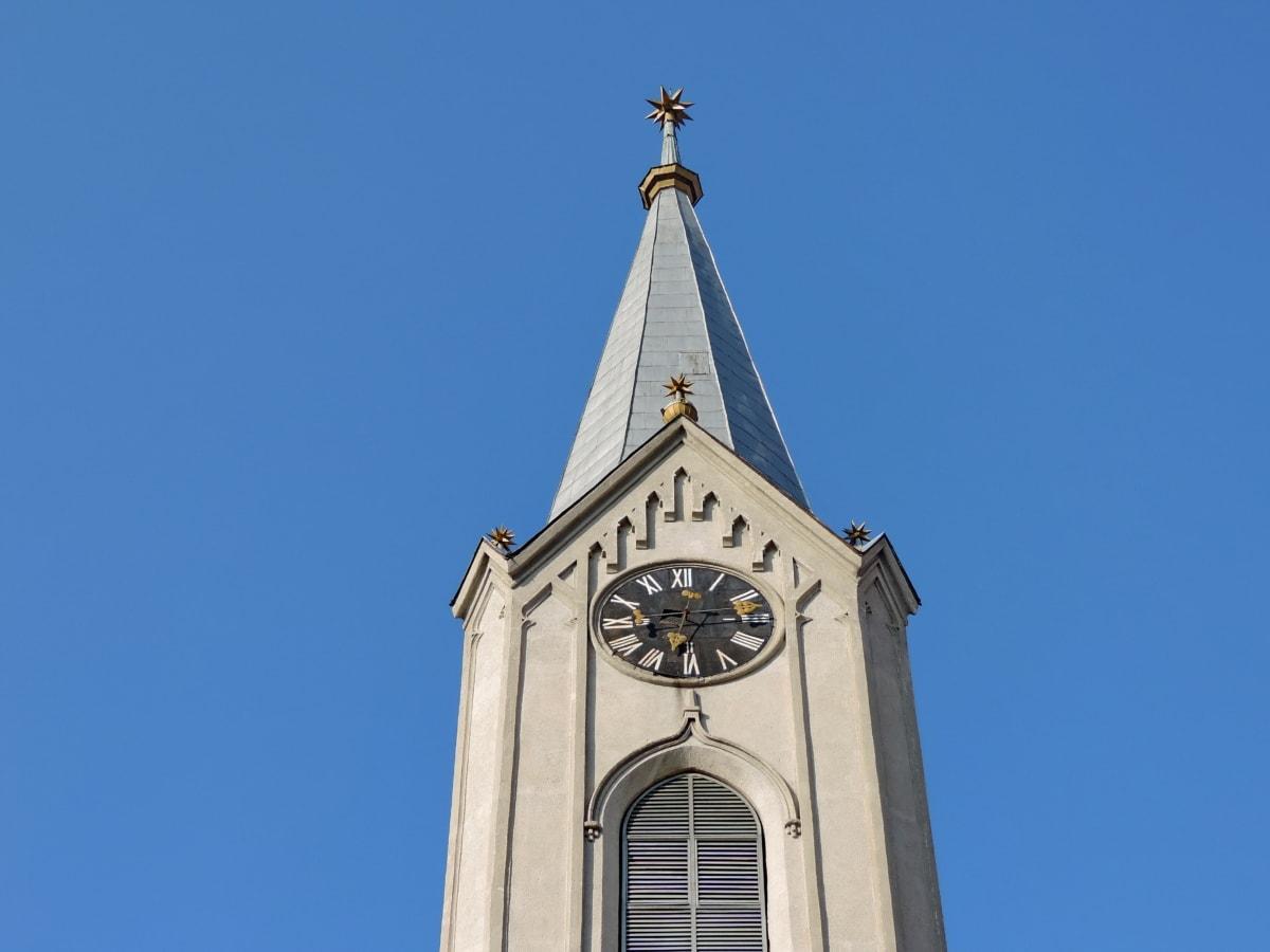 κτίριο, αρχιτεκτονική, που καλύπτει, Πύργος, Εκκλησία, θρησκεία, Ρολόι, σε εξωτερικούς χώρους