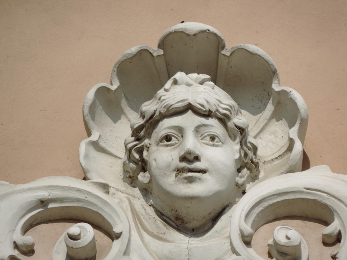 baroque, carving, art, statue, mask, sculpture, ancient, religion
