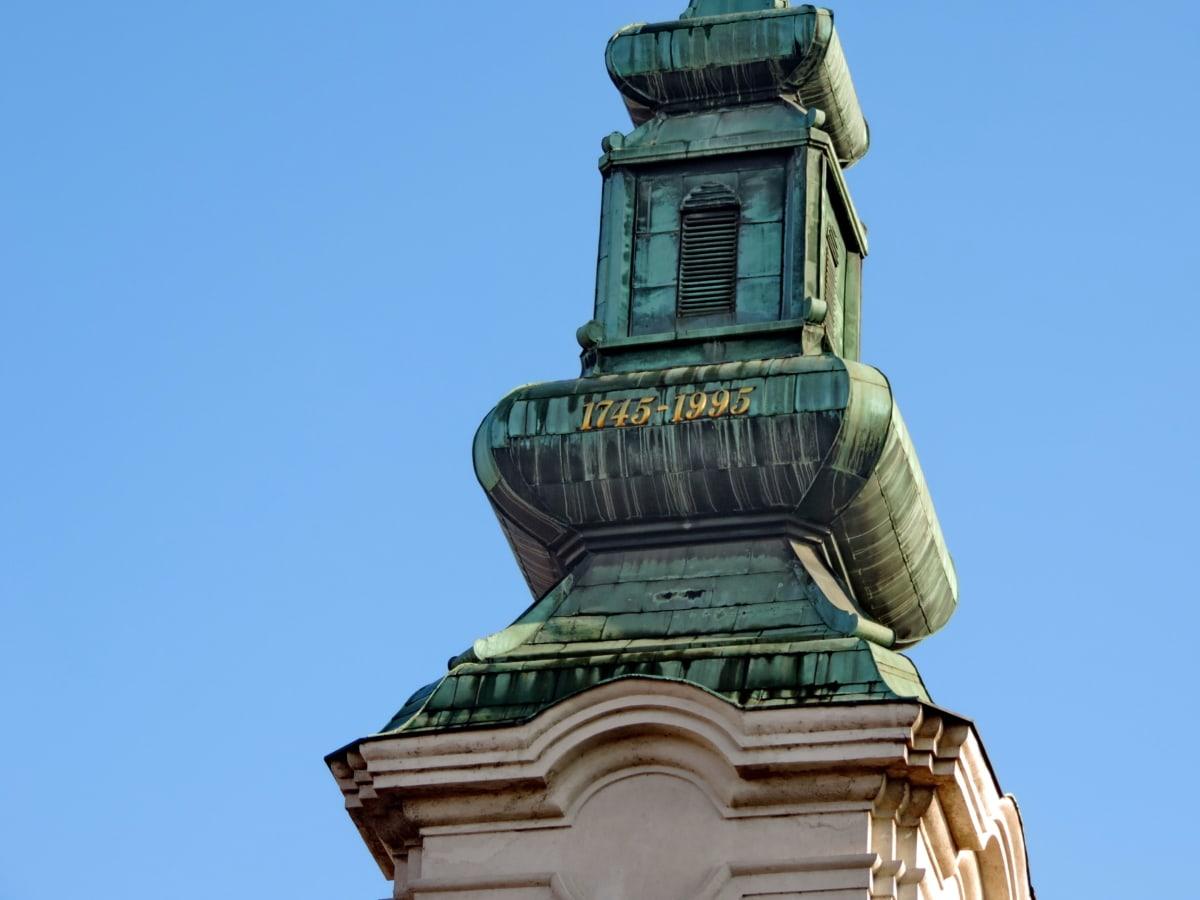 barokki, Bysantin, kirkon torni, kupari, Maamerkki, Ortodoksinen, hapettuminen, rakentaminen