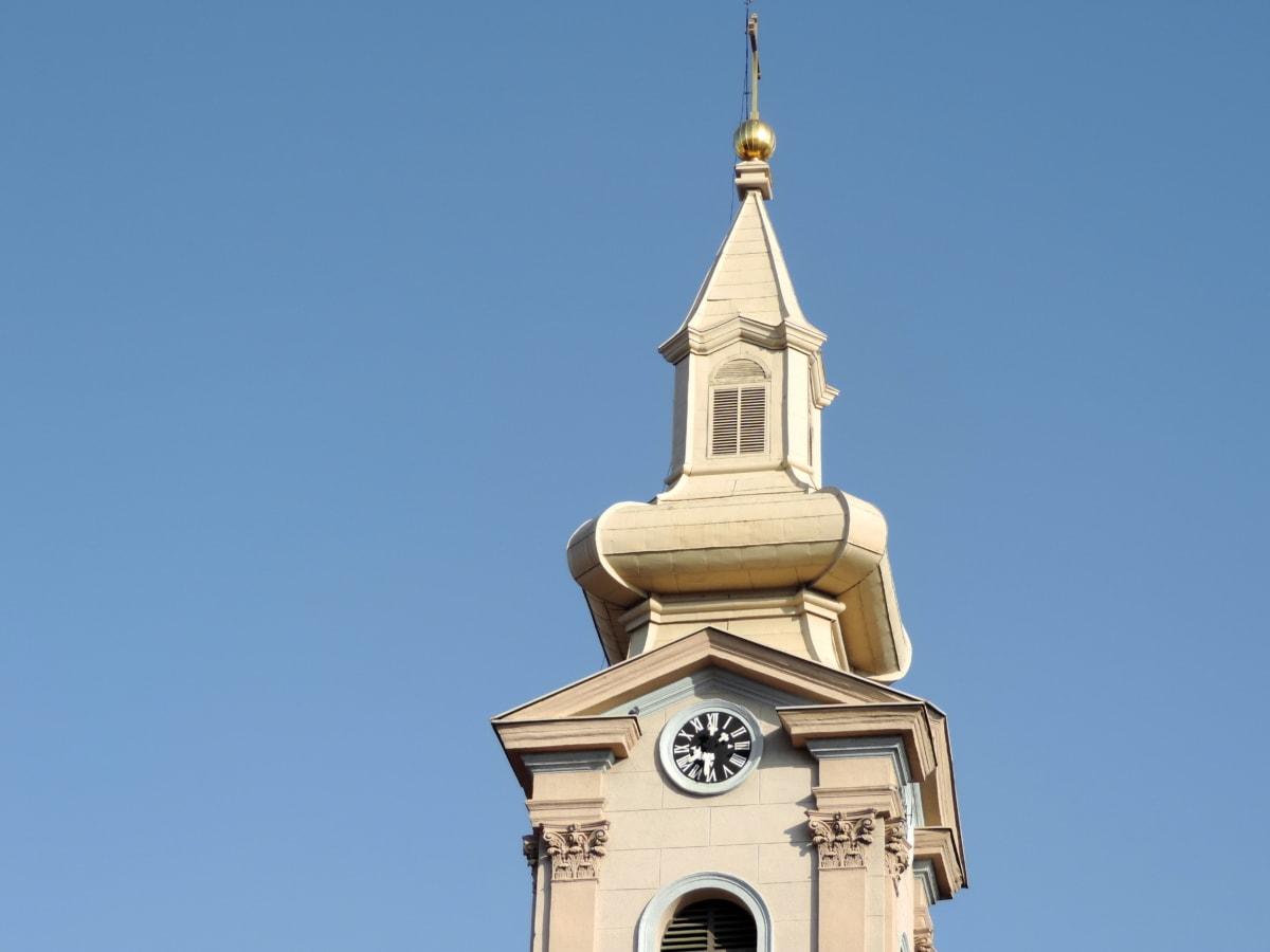 barokk, kereszt, képzőművészet, arany, vallás, templom, lefedő, épület