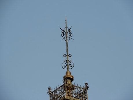 cast iron, handmade, high, tower, stabilizer, architecture, outdoors, sculpture