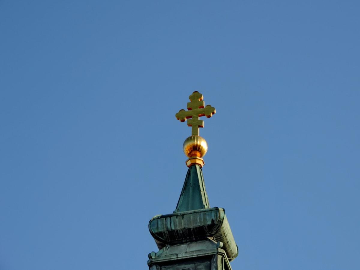 kaple, křesťanství, kříž, zlato, náboženství, kostel, architektura, mechanismus