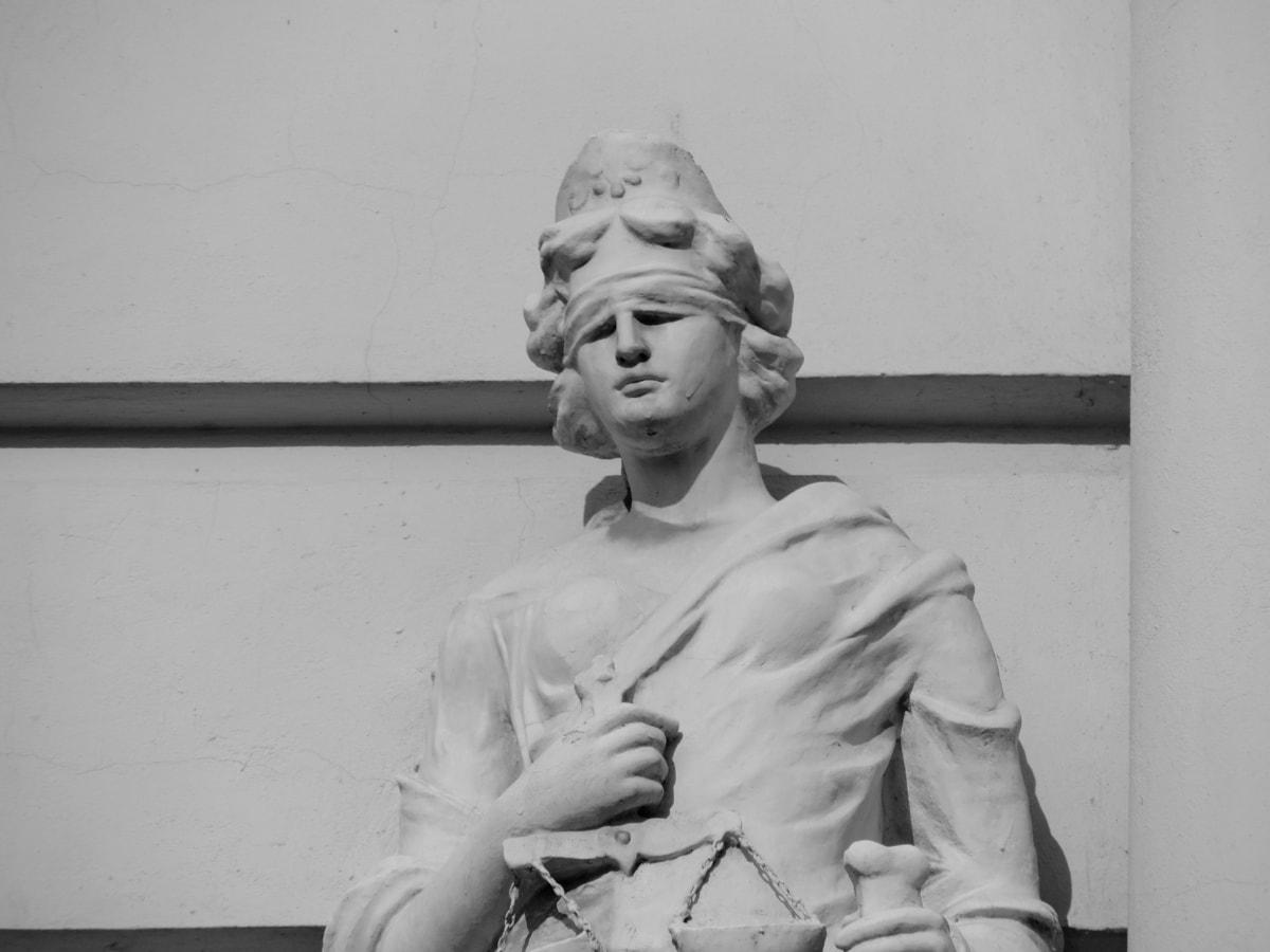 черный и белый, Бюст, правосудие, Маска, Монохромный, Статуя, скульптура, Портрет