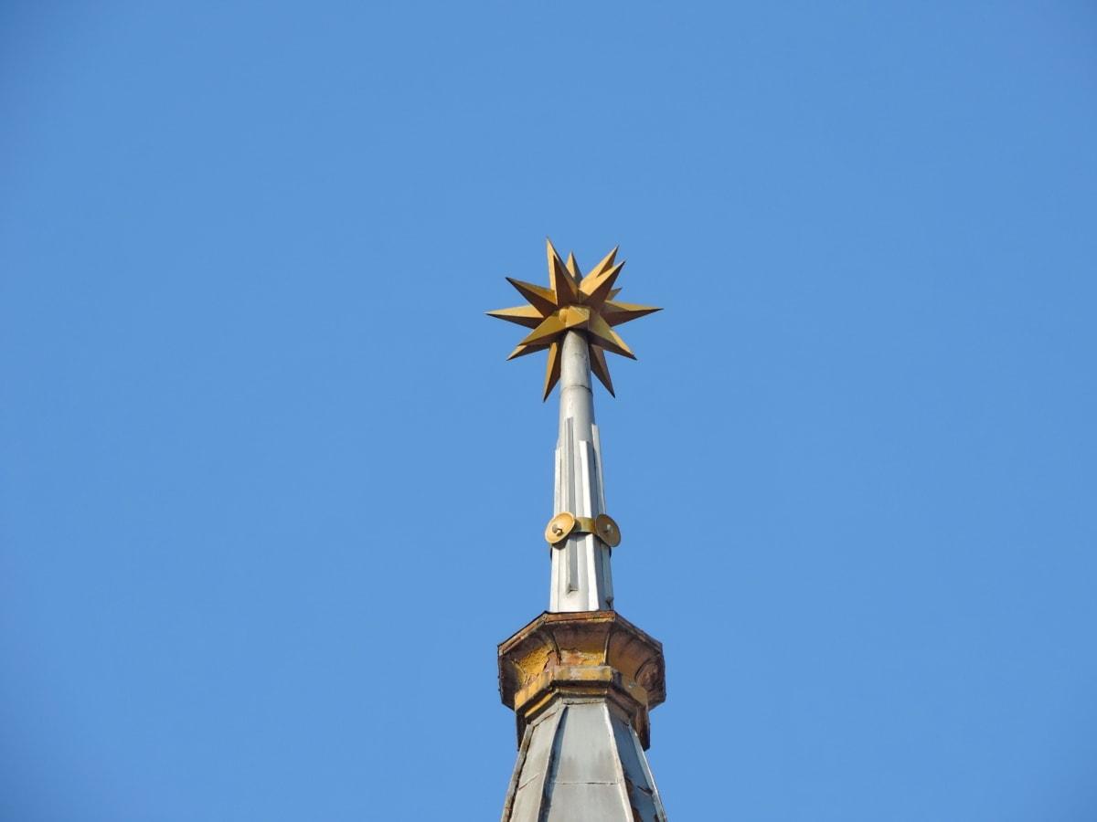 religion, arkitektur, bygning, enhed, udendørs, blå himmel, godt vejr, vind