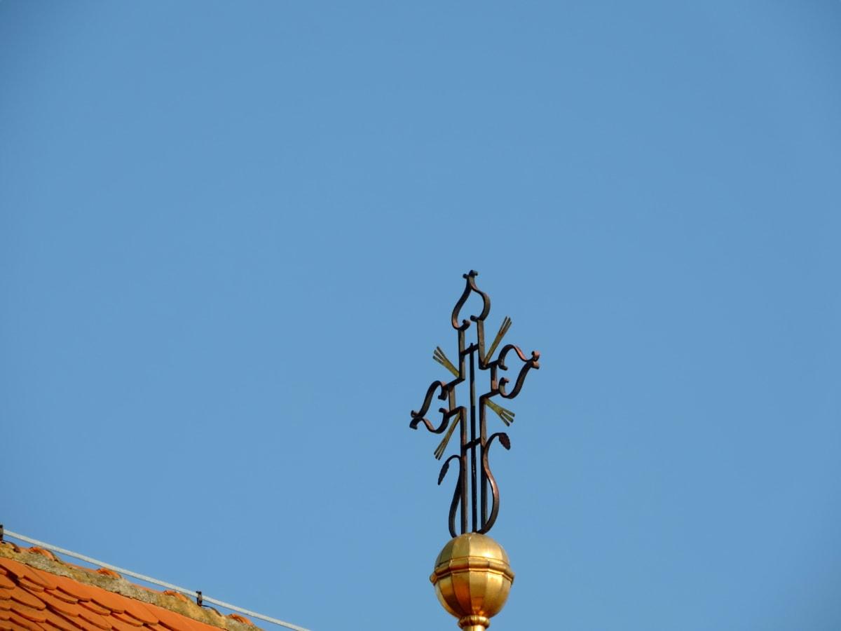 sztuka, barok, Żeliwo szare, wieża kościoła, ręcznie robione, na zewnątrz, architektura, błękitne niebo