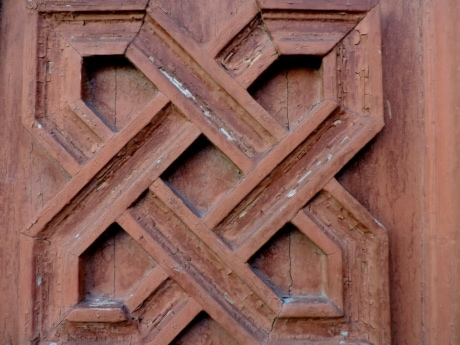 arabesque, carving, wood, architecture, old, dirty, house, retro