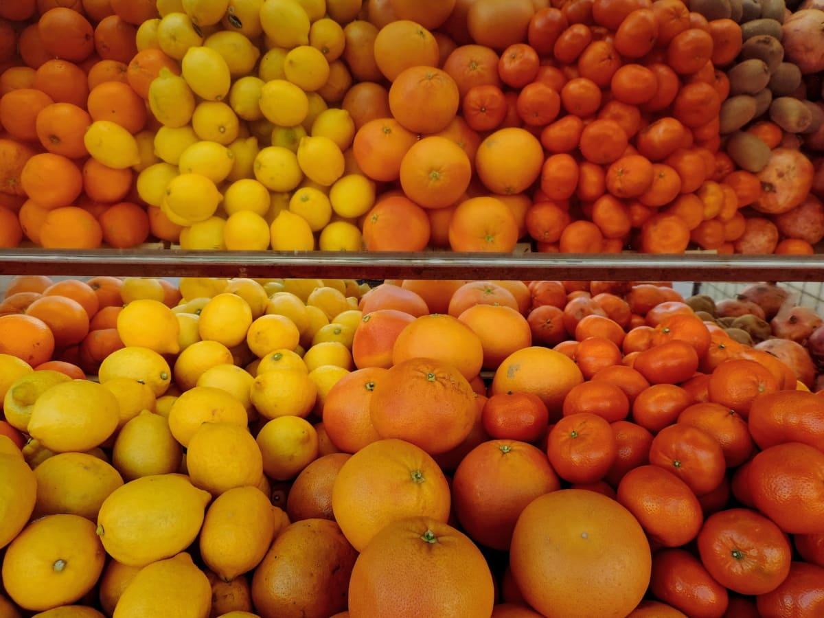 doce, citrino, frutas, comida, saudável, fresco, alperce, laranja