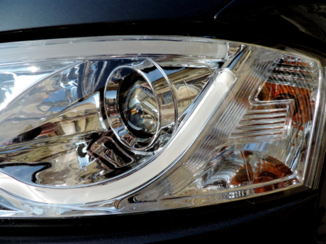 chrome, headlight, light, light bulb, reflection, speed, wheel, transportation