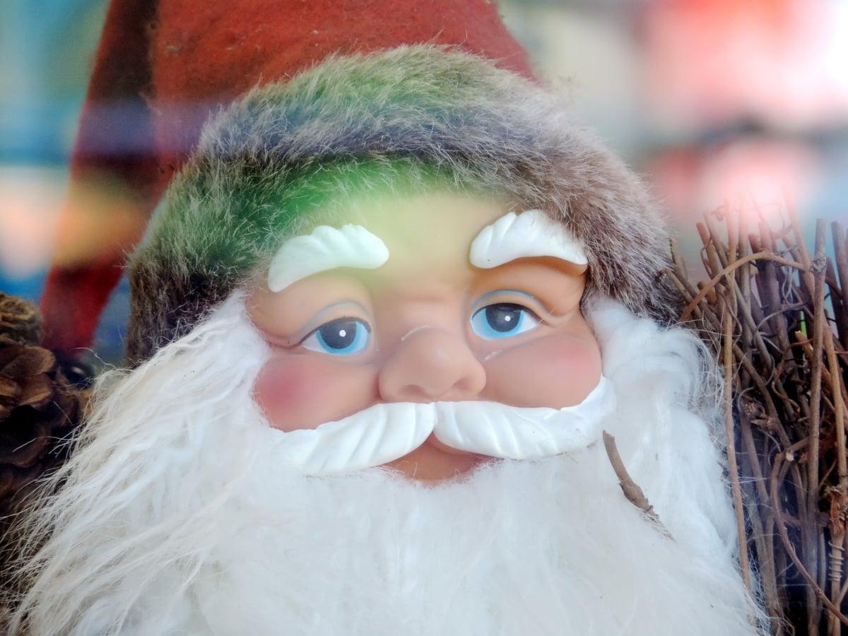 Portræt, ansigt, vinter, festivaali, sjov, fest, Nuttet, jul