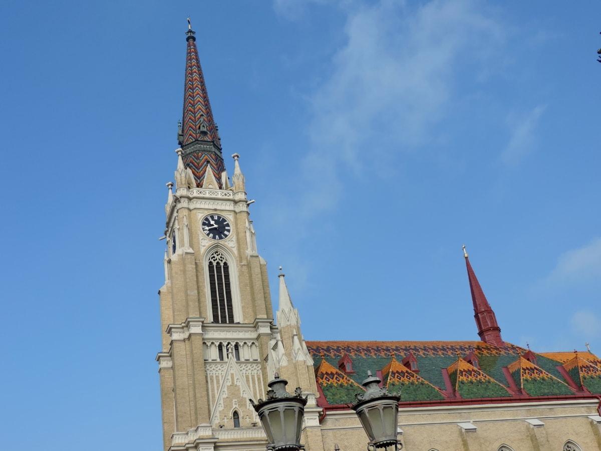 โกธิค, ครอบคลุม, สถาปัตยกรรม, ทาวเวอร์, คริสตจักร, มหาวิหาร, อาคาร, ศาสนา