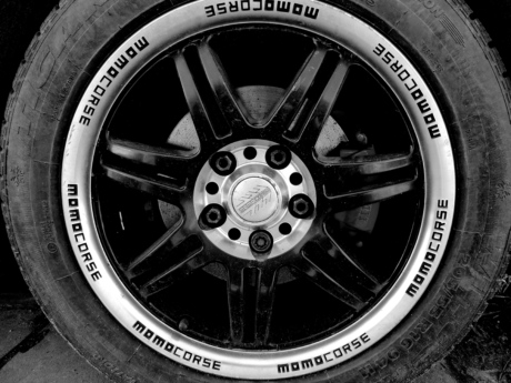 alloy, aluminum, black and white, brake, vehicle, car, wheel, tire