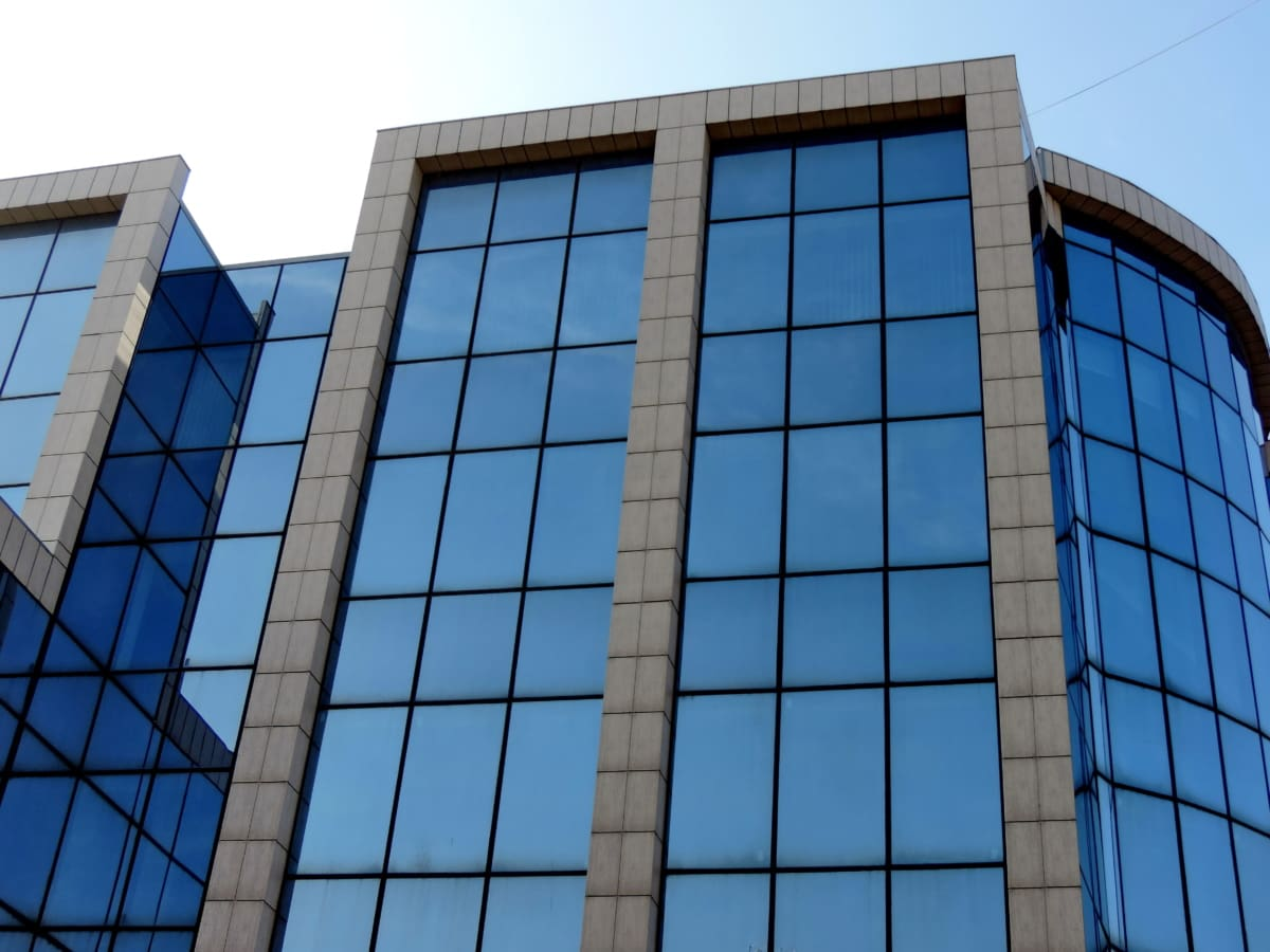 glass, window, city, office, architecture, skyscraper, building, business