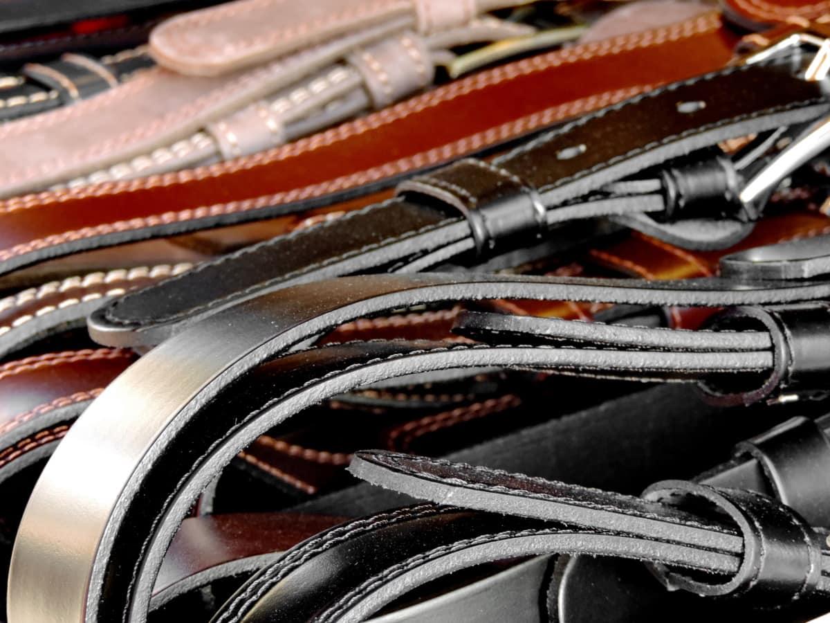 belte, mote, skinn, utstyr, industri, teknologi, nærbilde, gamle