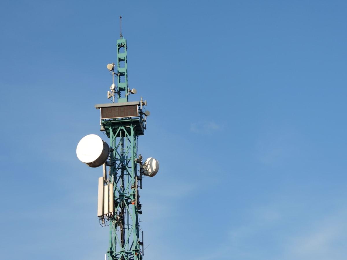ασύρματο, τηλεόραση, κεραία, δορυφορική, Πύργος, δέκτης, τηλέφωνο, σε εξωτερικούς χώρους