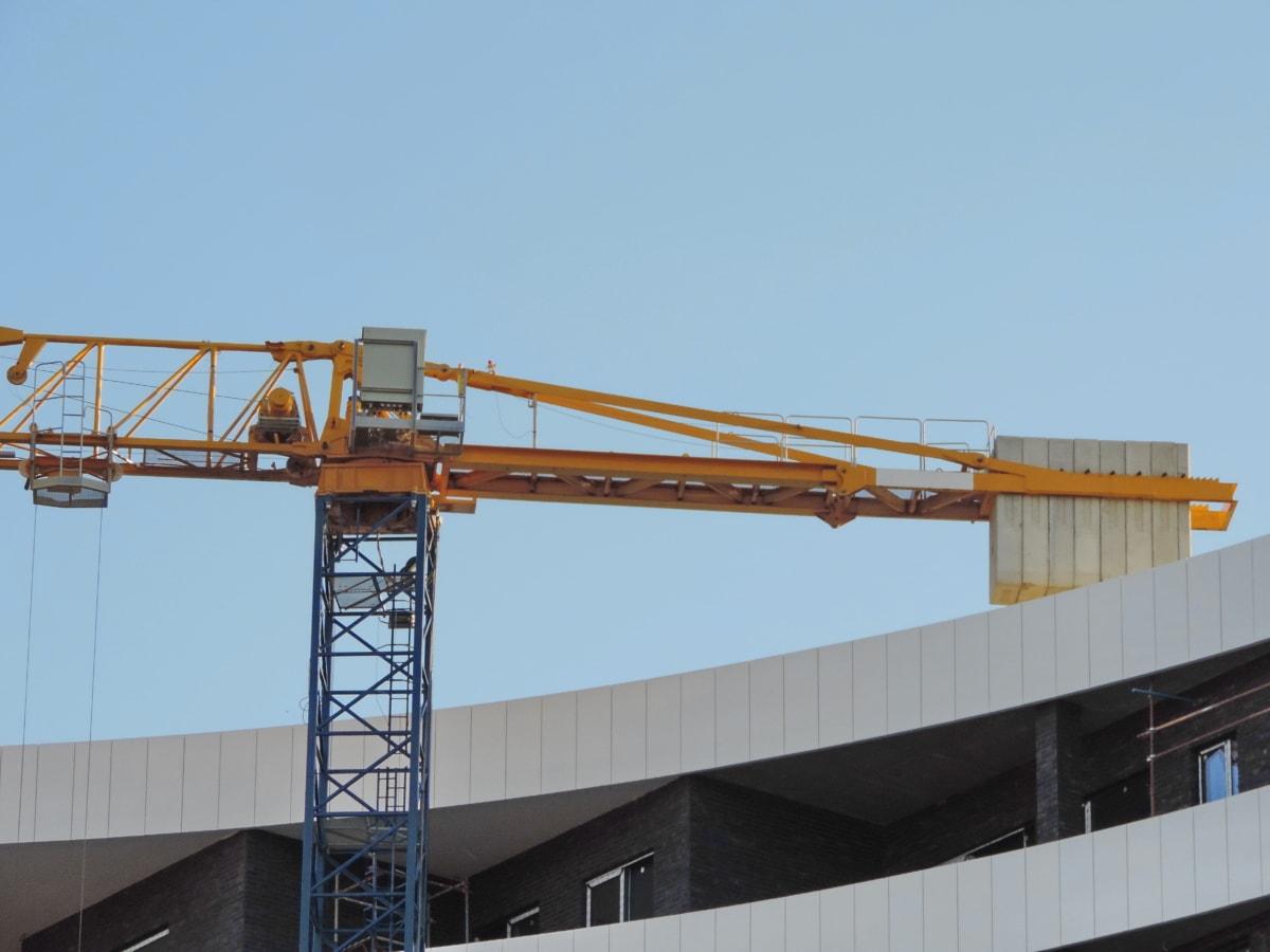 строителство, машини, Крейн, промишленост, стомана, бизнес, тежки, архитектура