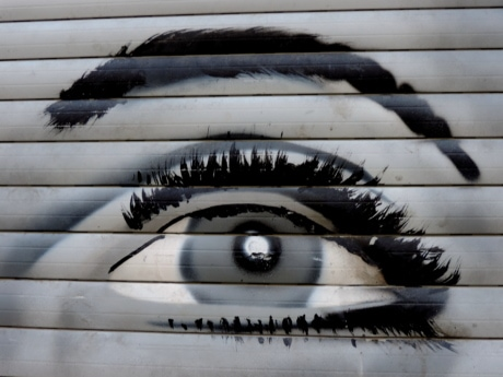 eye, eyeball, eyelashes, graffiti, urban, street, abstract, architecture