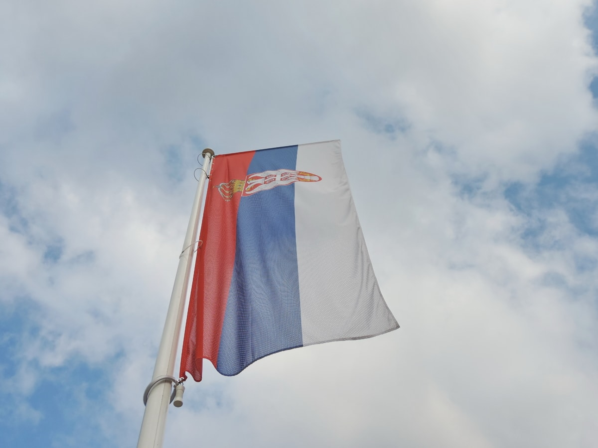 democracy, democratic republic, flag, heraldry, independence, Serbia, wind, outdoors