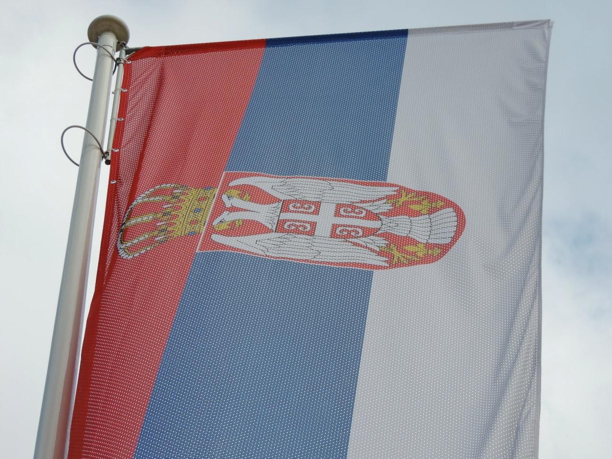 Эмблема, флаг, Геральдика, независимость, Мачта, патриотизм, Сербия, баннер