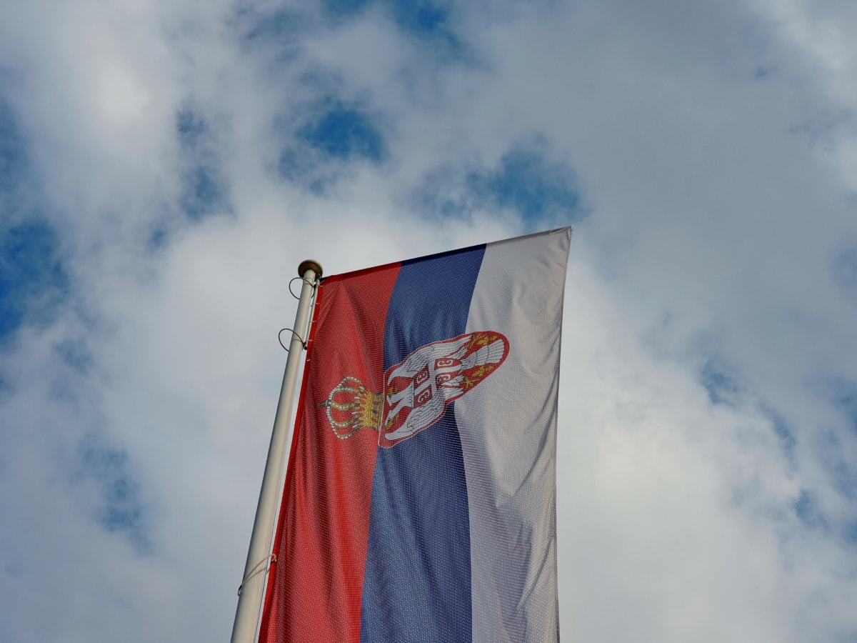 демокрация, Демократична република, флаг, хералдика, независимост, патриотизъм, Сърбия, вятър