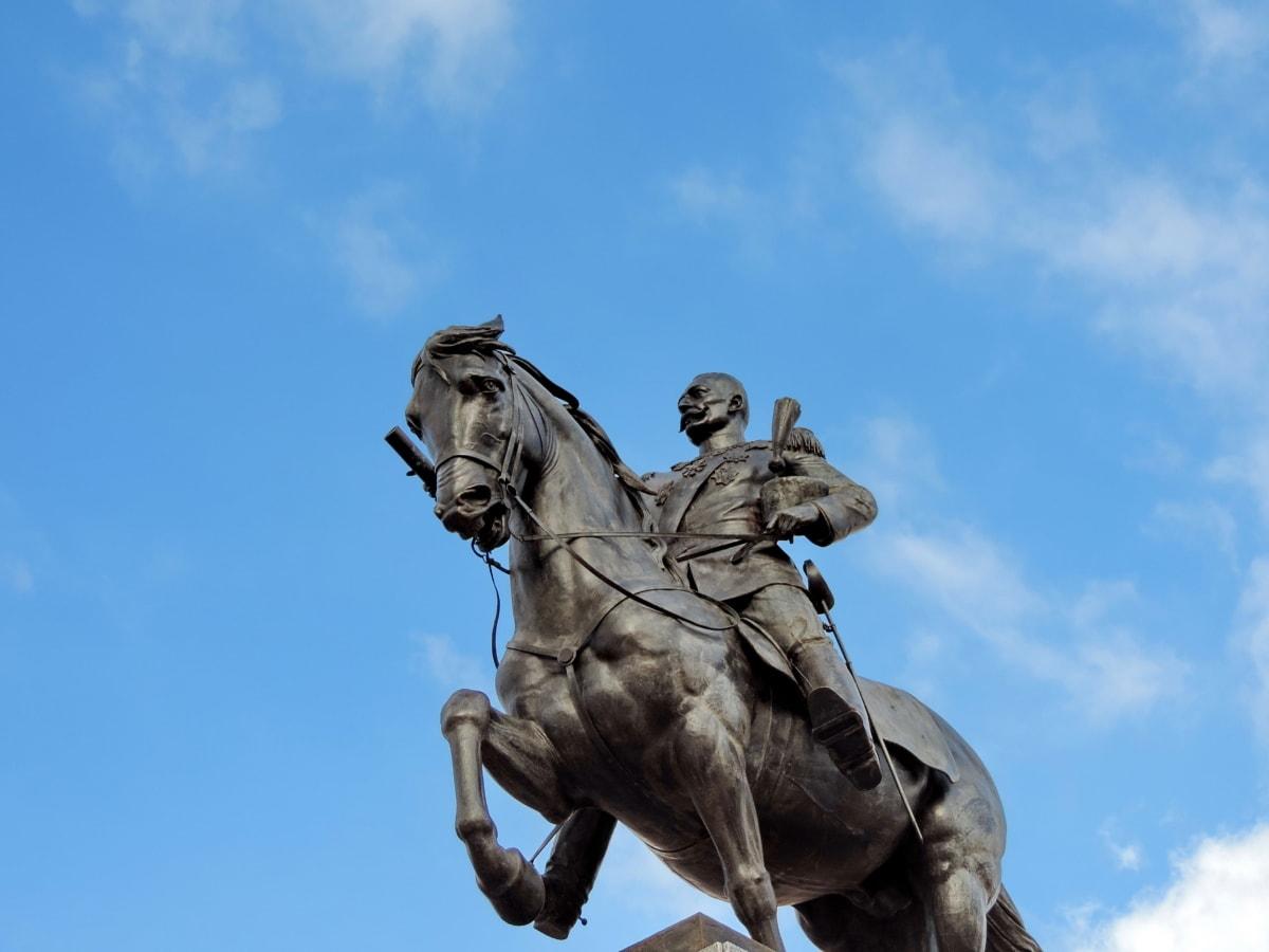 bronse, hest, kongen, Storbritannia, skulptur, Serbia, pidestall, statuen