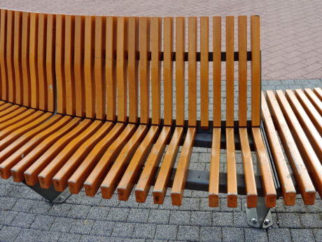 furniture, bench, seat, chair, empty, pattern, design, wood