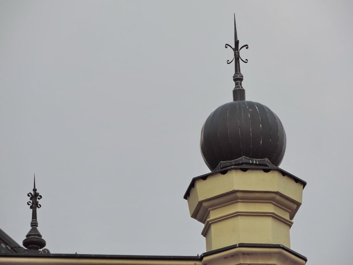 архитектура, устройство, купол, стабилизатор, дневна светлина, сграда, град, кула