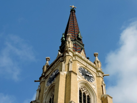 christianity, church tower, spirituality, clock, architecture, cathedral, building, religion