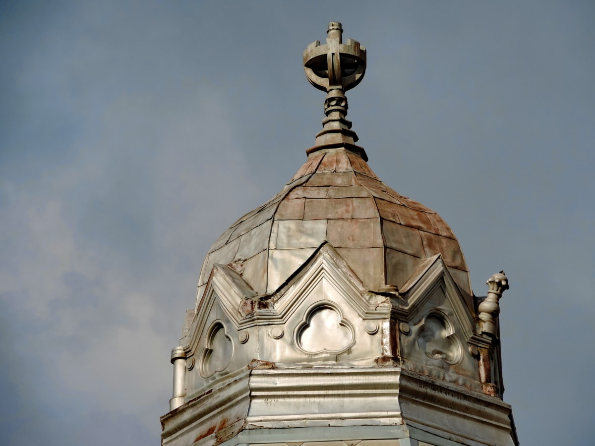 архитектура, катедрала, покриващи, покрив, религия, купол, кръст, сграда
