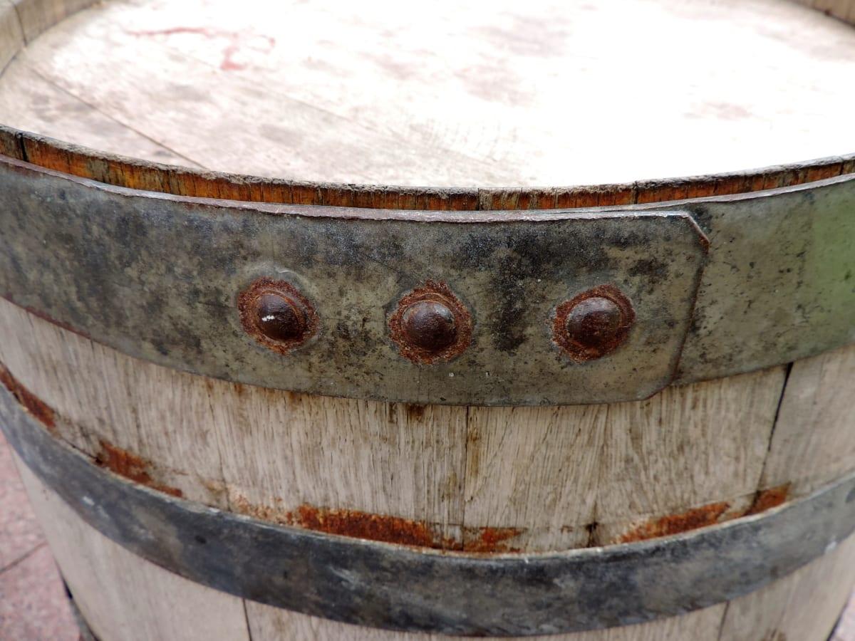 madeira, contêiner, barril, navio de, tambor, velho, de madeira, banheira