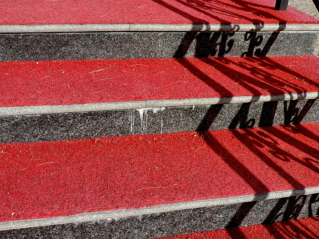 carpet, red, red carpet, rug, doormat, street, pavement, pattern