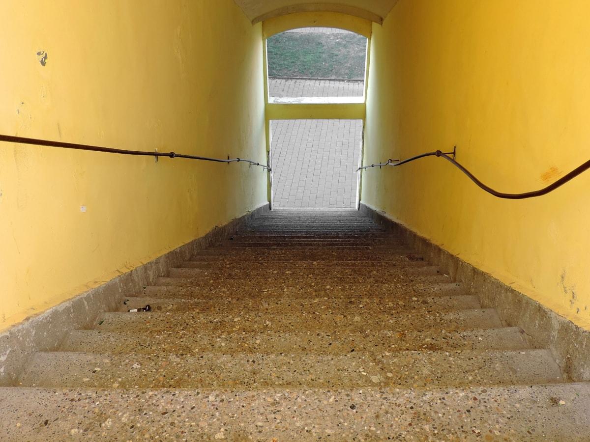 prolaz, stubište, tunel, zid, arhitektura, kuća, unutarnji prostor, vrata