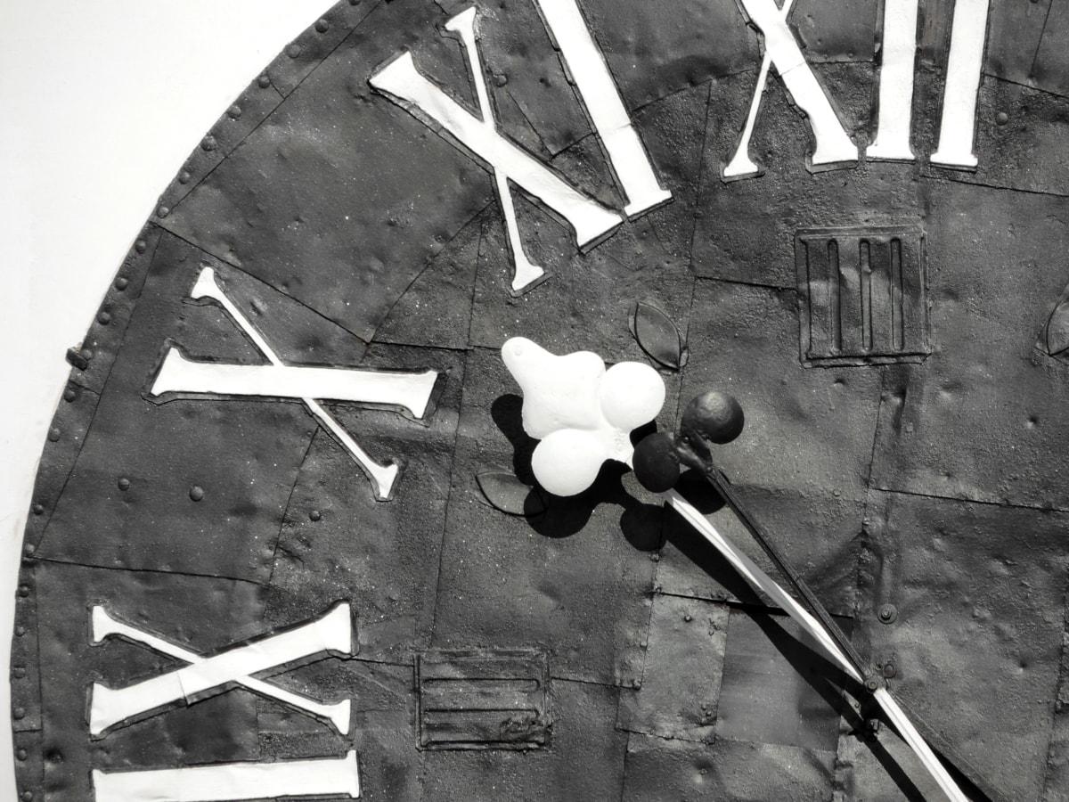 Барок, Черно и бяло, часовник, устройство, стар, ретро, реколта, мръсни
