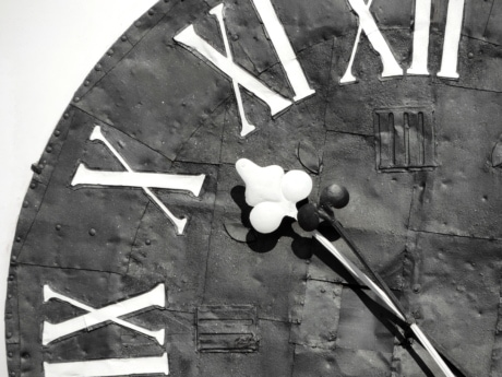 baroque, black and white, clock, device, old, retro, vintage, dirty