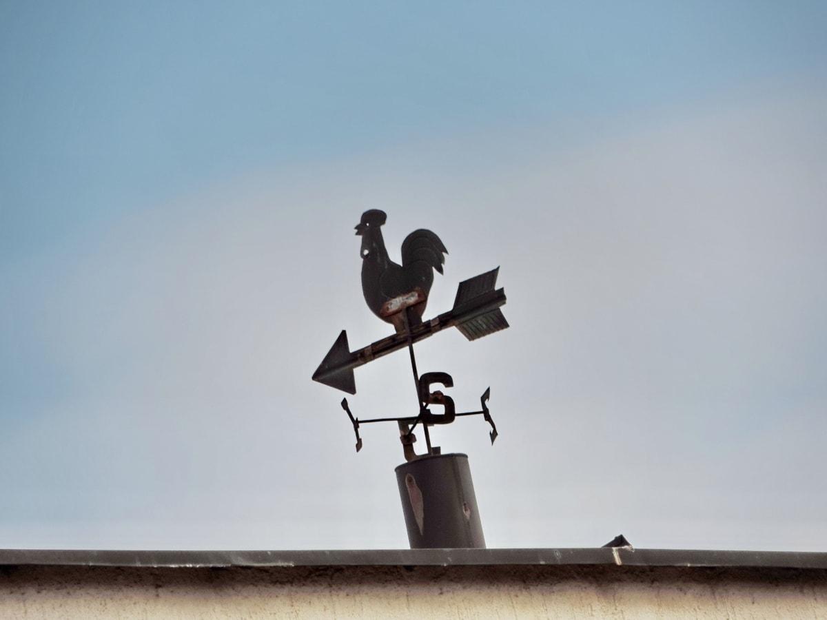 комин, западната страна, западен вятър, стабилизатор, устройство, на открито, вятър, дневна светлина